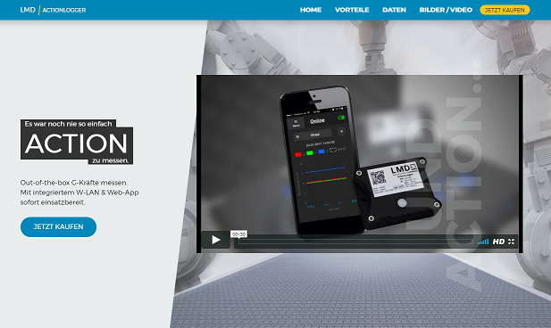 Action Logger Page